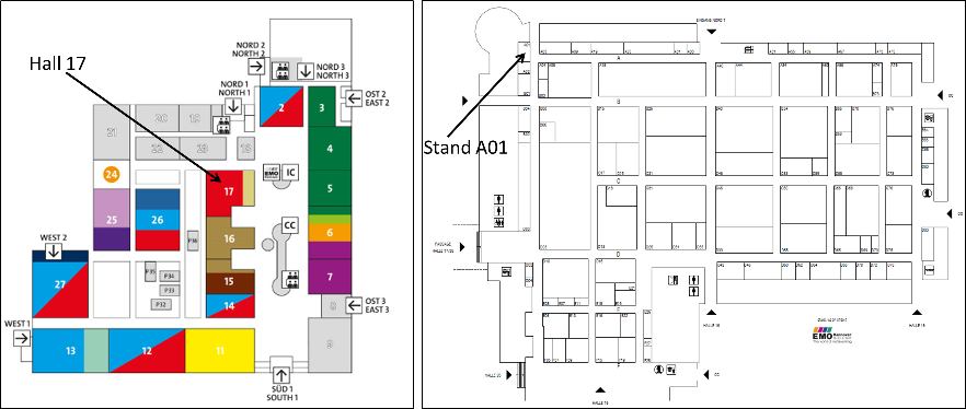 Map and stand plan