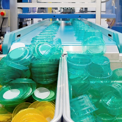 Plastic tubs production line