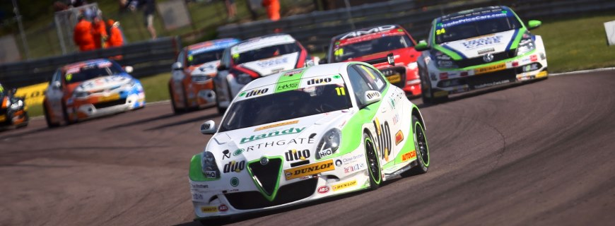 Rob Austin has strong pace at Thruxton