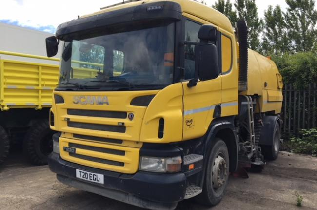 2009 Scania P230 Johnston VT650 18T Sweeper | Close Brothers