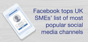 Facebook tops UK SMEs' list of most popular social media channels