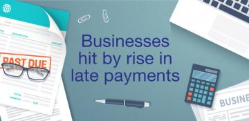 Late payments infographic
