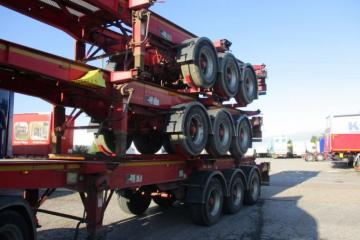Multiple 2011 Dennison Skeletal Trailers