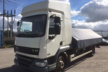2013/13 DAF LF45 (160) 7.5 Tonne Double Sleeper Cab with 20ft Alloy Dropside Body