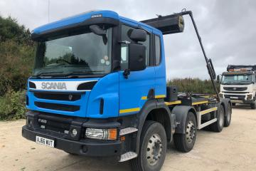 2016 Scania P410 8x4 Multi-Lift Hookloader