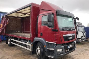14/14 MAN TGM 250 Curtainsider