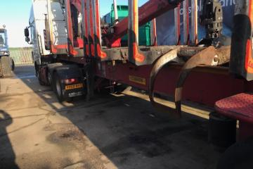 2012 Dennison Timber Trailer with Grab